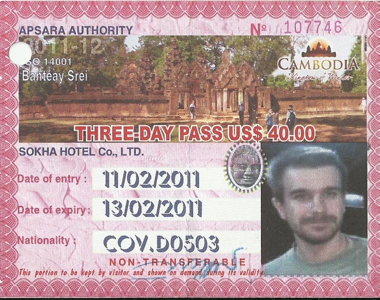 Bilet wstępy do kompleksu Świątyń Angkoru